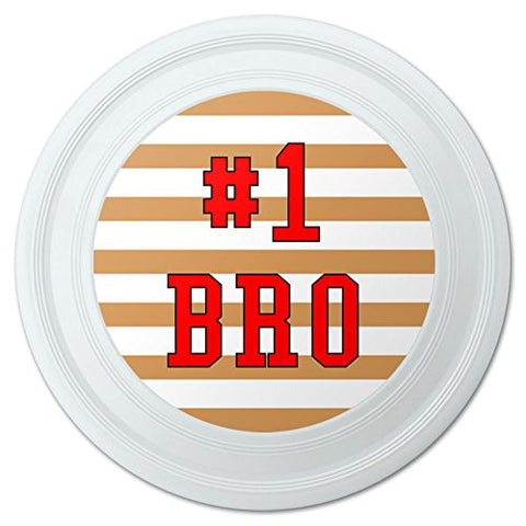 "#1 Bro Number One Favorite Brother Sibling Novelty 9"" Flying Disc"
