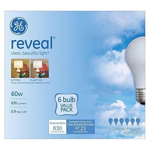 (Ship from USA) GE 48688 60 W - GE REVEAL LIGHT BULB - 60 watt 12 Bulbs GE 48688 /ITEM NO#8Y-IFW81854267746 by Rosotion