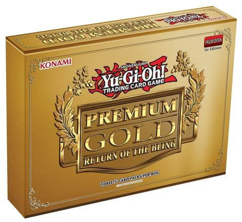 1 (One) Pack Mini Box of Yu-Gi-Oh! - Premium Gold - Return of the Bling Box (3 Booster Packs/Mini Box)