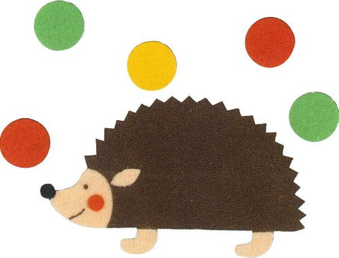 """Make with their children"" three felt felt applique KK-5 hedgehog (japan import)"
