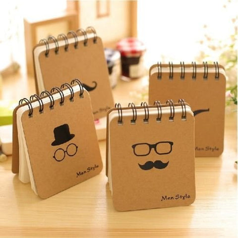 """Men Style"" 1 pc Mini Pocket Diary Study Notebook Cute Memo Planner Blank Papers"