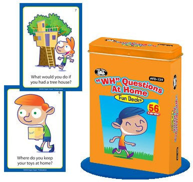 """WH"" Questions at Home Fun Deck Cards - Super Duper Educational Learning Toy for Kids"