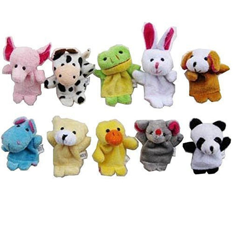 10 Pcs Story Time Animal Finger hand Puppets Toy