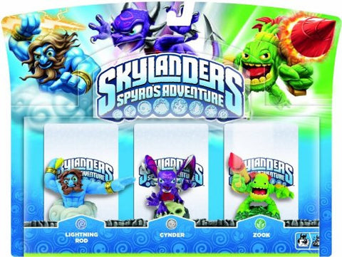 Activision Skylanders Spyro's Adventure: Triple Character Pack - Lightning Rod, Zook And Cynder (Wii/PS3/Xbox 360/PC)