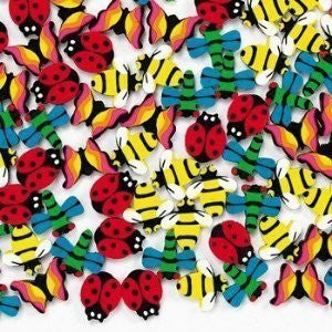 144 Mini Insect Erasers Children, Kids, Game