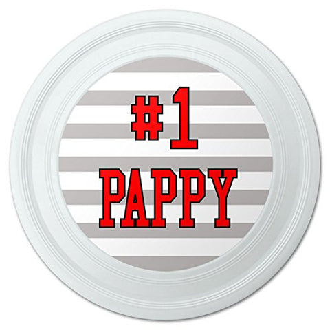 "#1 Pappy Number One Dad Father Novelty 9"" Flying Disc"