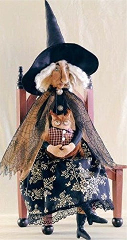 """Orma"" Witch Halloween Figure Soft Sculpture Fabric Doll"
