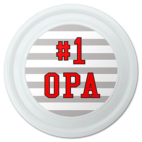 "#1 Opa Number One German Grandpa Novelty 9"" Flying Disc"