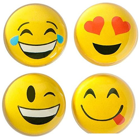 "1.8"" Emoticon Emoji Translucent Hi-Bounce Ball (Package of 12)"