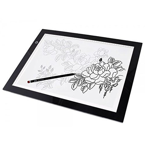 "(Ship from USA) 19"" LED Artist Stencil Board Tattoo Drawing Tracing Table Display Light Box Pad"