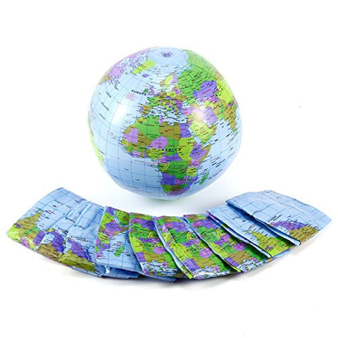 10x Inflatable World Earth Globe Atlas Map Beach Ball Geography Education Toy