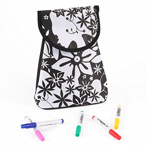 """Paint-My-Bag"" Mini Backpack for Children (Floral Print) - Arts & Crafts DIY Project by Kinder Toys"