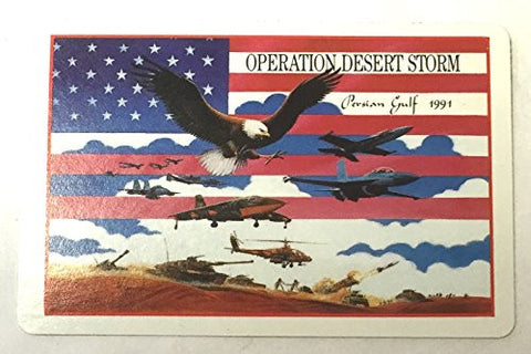 (Pack of 4) Operation Desert Storm 1991 Persian Gulf Playing Cards Standard Deck