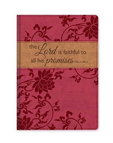 """The Lord is Faithful"" Faux Leather Journal"