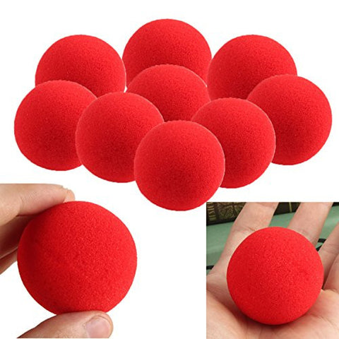 20PCS Close-Up Magic Street Trick Soft Sponge Ball Props Clown Nose ;item#: GHU-75/LOP-J6741