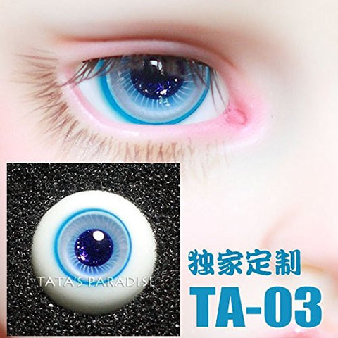 1/3 1/4 1/6 BJD Eyes 14mm/ 16mm blue Eyeballs for SD/MSD/YSD/70CM Ball-jointed Doll TA-03