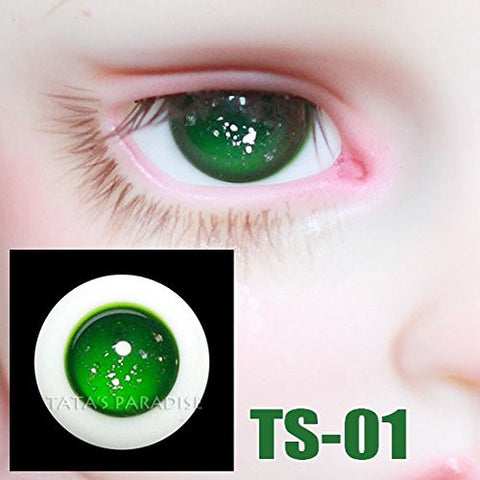 1/3 1/4 1/6 BJD Eyes 14mm 16mm green Eyeballs for SD/MSD/YSD/70CM Ball-jointed Doll TS-01