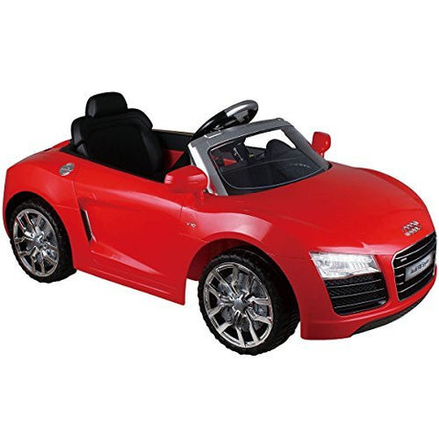 Audi R8 Spyder 12V Electric Kids Ride On Car Licensed MP3 RC Remote Control 2 color - With Parental Remote Control - 2 Mode: R/C(Remote Control) And B/0(Battery Operate) - With MP3 Input Mode (Red)
