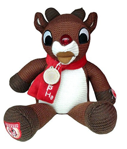 14 Inch Rudolph the Red Nosed Reindeer 50th Aniversary Limited Edition Light Up Musical Christmas Plush