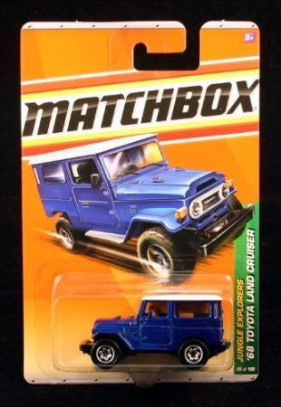 '68 TOYOTA LAND CRUISER * BLUE * Jungle Explorers Series (#1 of 6) MATCHBOX 2010 Basic Die-Cast Vehicle (#95 of 100)
