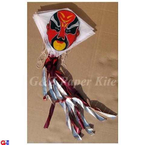 10 Mini Paper Kites on a String - From Peking Opera Man's Face