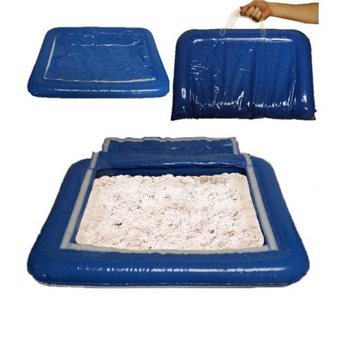5 lbs of White Shape-It Sand & Inflatable Sand Tray