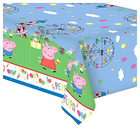183cmx138cm Peppa Pig Cute CARNIVAL Birthday Party Plastic Table Cover