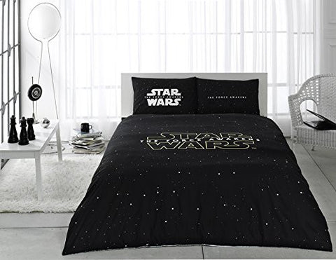 100% Cotton Star Wars Full Double Queen Size Quilt Duvet Cover Set Bedding Licensed - 4 Pcs