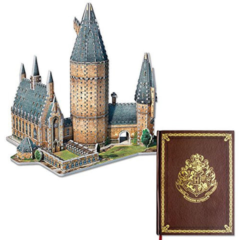 (Set) Harry Potter Hogwarts Wizard School Notebook And Great Hall 3D Puzzle