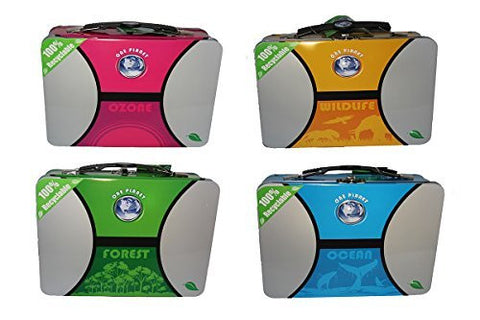 1 X One Planet 100% eco friendly recyclable XL Lunchbox - Assorted colors by Tin Box