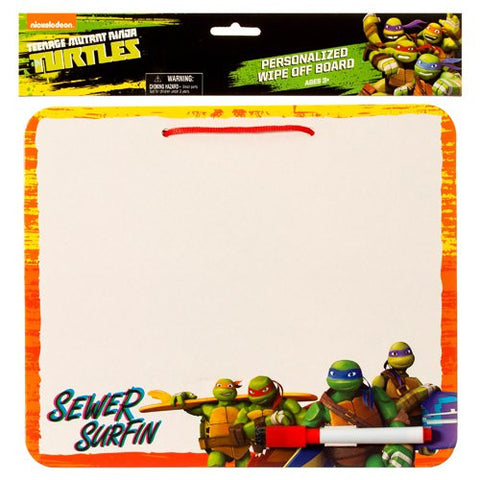 2 Pk, Boys TMNT Teenage Mutant Ninja Turtles Personalized Wipe Off Board