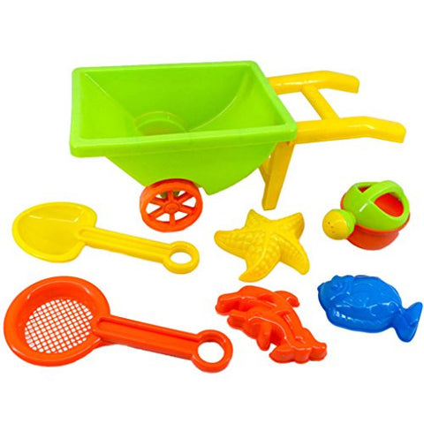 16inch Beach Wheelbarrow Toy Set for Kids Random Color