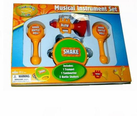 """Wonderfully Made"" 4-Piece Musical Instrument Toy (Ages 3+)"