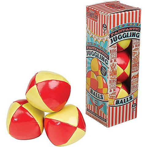 (Set/3) Ridley's Big Top Circus Soft Juggling Balls In Collectible Retro Box
