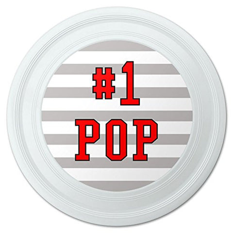 "#1 Pop Number One Dad Father Novelty 9"" Flying Disc"
