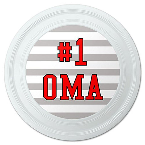"#1 Oma Number One German Grandma Novelty 9"" Flying Disc"