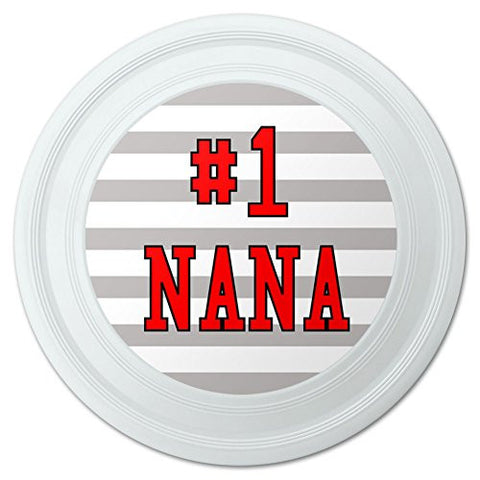 "#1 Nana Number One Grandma Novelty 9"" Flying Disc"