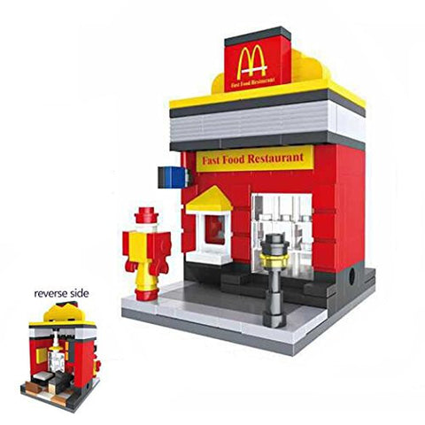 1 Box Diamond Block Building McDonalds Building Stacked toys Blocks Parent-child Games Children's Educational Toys
