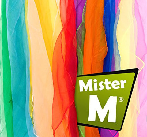 12 Juggling / Dancing Scarves + FREE online instructional Video by Mister M