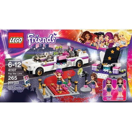 265 Pieces LEGO Friends Pop Star Limo Model#41107
