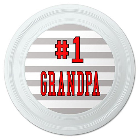 "#1 Grandpa Number One Grandfather Novelty 9"" Flying Disc"