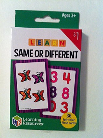"""Learning Resources - Learn Same or Different Flash Cards"" Ages 3+ (36) full-color cards"