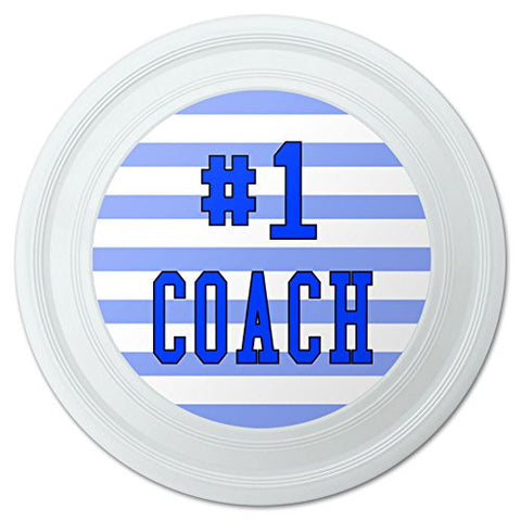 "#1 Coach Number One Sports Athletics Novelty 9"" Flying Disc"