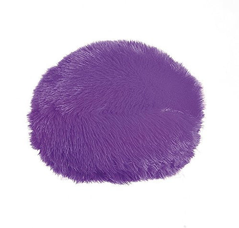 "10"" Plush Round Pillow - Cute Girl Boy Bedroom Livingroom (Purple)"