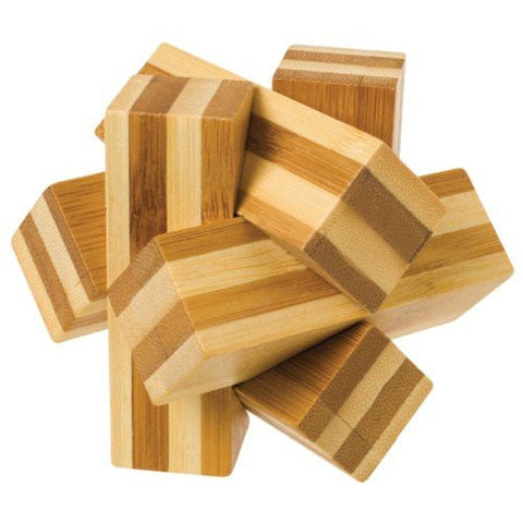 1 Bamboo Wooden Puzzles Set - Bamboozlers