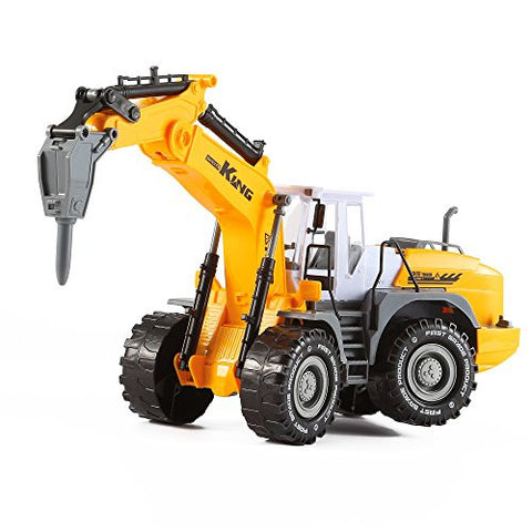 """KING Series"" Inertia Construction / Demolition Wheeled Excavator Truck with Demolition Hammer by KinderToys"