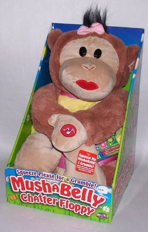 "12"" Mushabelly Grumble Chapper Talking Floppy Lila Plush Monkey"