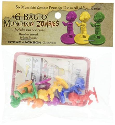+6 Bag O' Munchkin Zombies Card Game