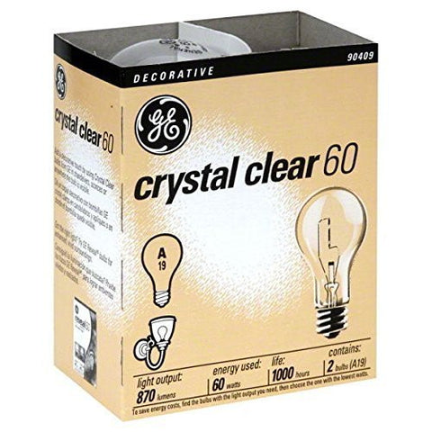(Ship from USA) 24- NEW GE 97490-24 60-Watt Crystal Clear Incandescent A19 Light Bulbs /ITEM NO#E8FH4F854135615 by Mohenion