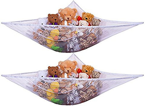 1pcs Toy Hammock - Organize Stuffed Animals or Children's Toys with this Mesh Hammock. Excellent for Nursery Storage, Toys Games Organization & Hanging Organizers